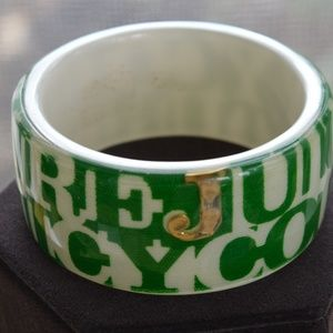 Juicy Coutoure Green Acrylic Bangle Bracelet